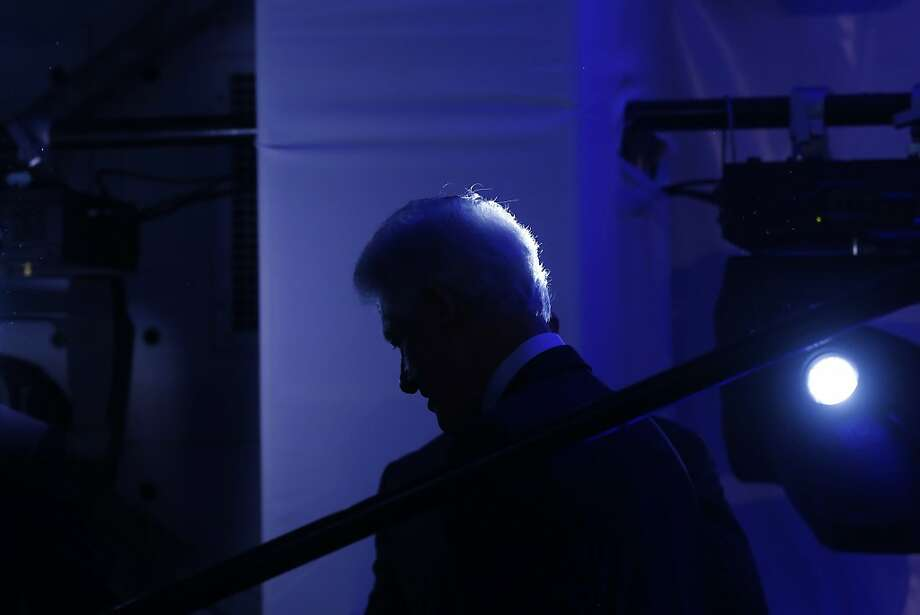 Former President Bill Clinton walks backstage after an event marking the 20th anniversary of the United States Holocaust Memorial Museum in Washington, Monday, April 29, 2013. (AP Photo/Charles Dharapak) Photo: Charles Dharapak, Associated Press