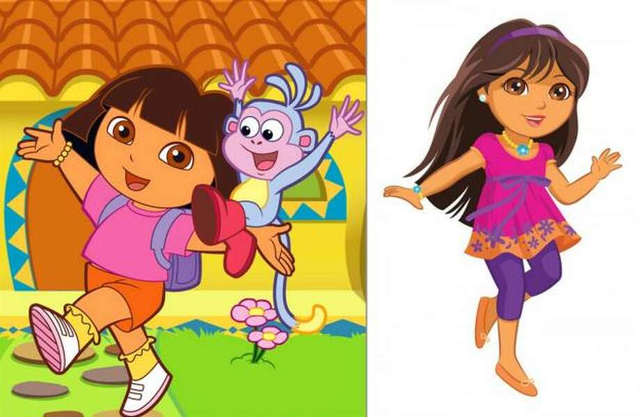 Dora the Explorer:In 2009, Mattel and Nickelodeon unveiled a tweenage Dora for older girls. The beloved explorer lost the soup bowl cut and grew her hair long, gained a few inches and lost a few pounds, and adopted a daintier step. Is that lipstick she's wearing?