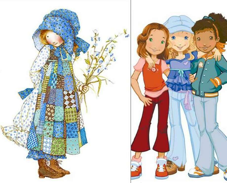 Holly Hobbie:She lost her rag dress and oversize bonnet. Her new updated character is more hippie and sporty than hip and sexual.