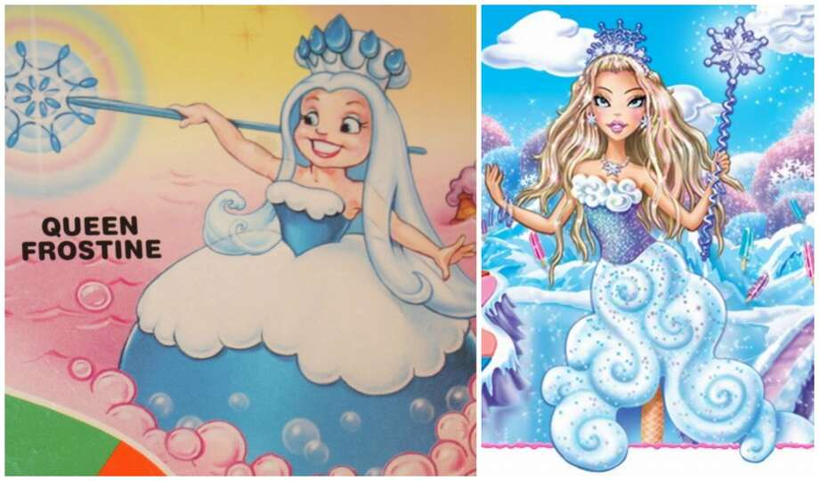 Candy Land: Queen Frostine got a sexy makeover for the newest 2010 version of the sweet children's board game. That's the 1990 queen on the left.