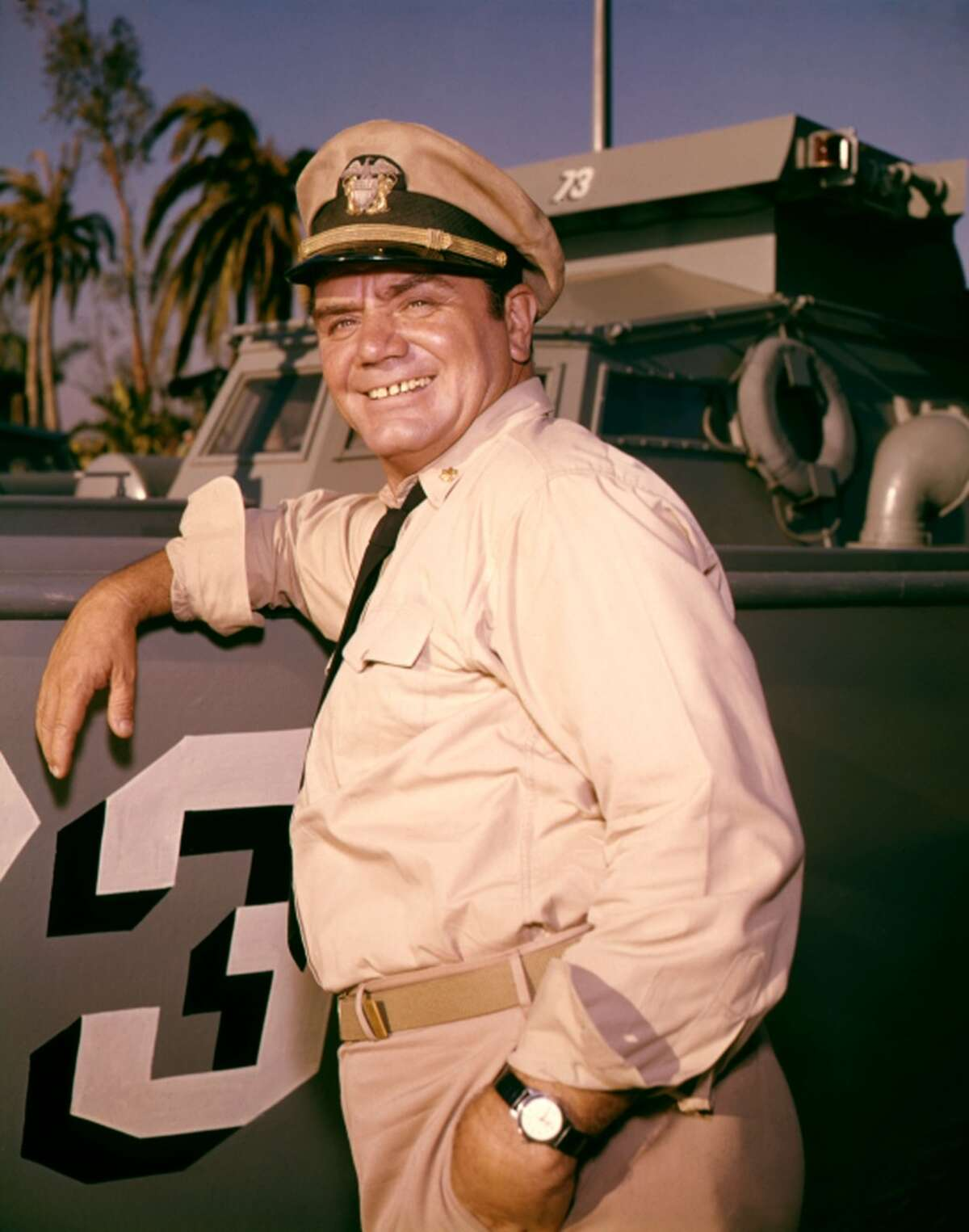 Ernest Borgnine didn't just play a Navy man on TV; he served in the U.S. Navy for nearly ten years, re-enlisting after the attack on Pearl Harbor in 1941. The Hamden native went on to enjoy a successful acting career after coming home in 1945, evencaptaining a World War II PTboat in WWII sitcom McHale's Navy.