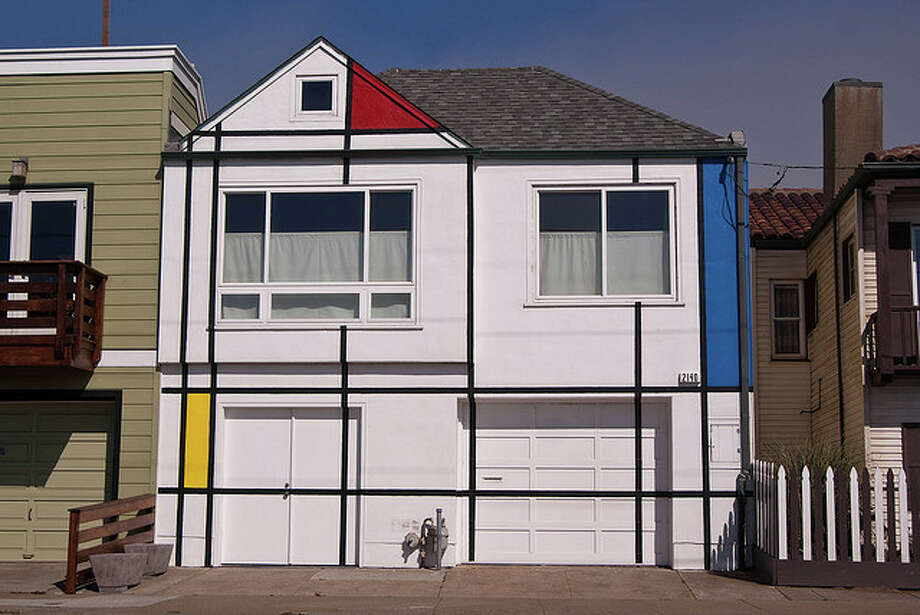 9. The Mondrian House:  An homage to a Dutch by the beach. Neighborhood: Outer Sunset (Great Highway between Rivera and Quintara Streets). Photo courtesy of geekstinkbreath via Flickr.