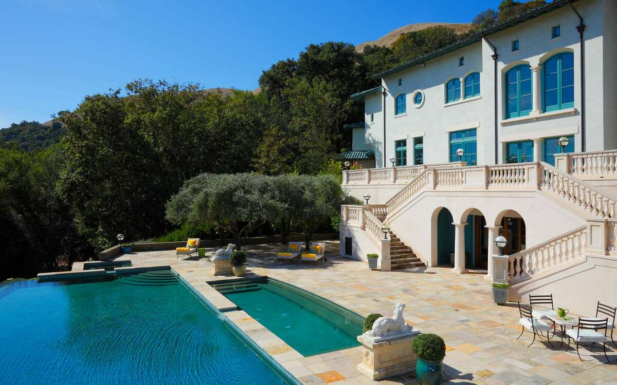 A 20,000 square foot Tuscan villa surrounded by 600 acres.