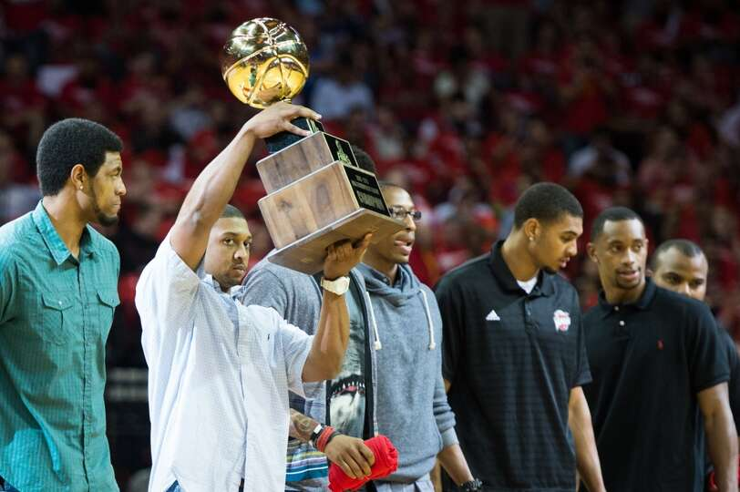 Members of the NBA D-League champion Rio Grande Valley Vipers, the Rockets D-League affiliate, are h