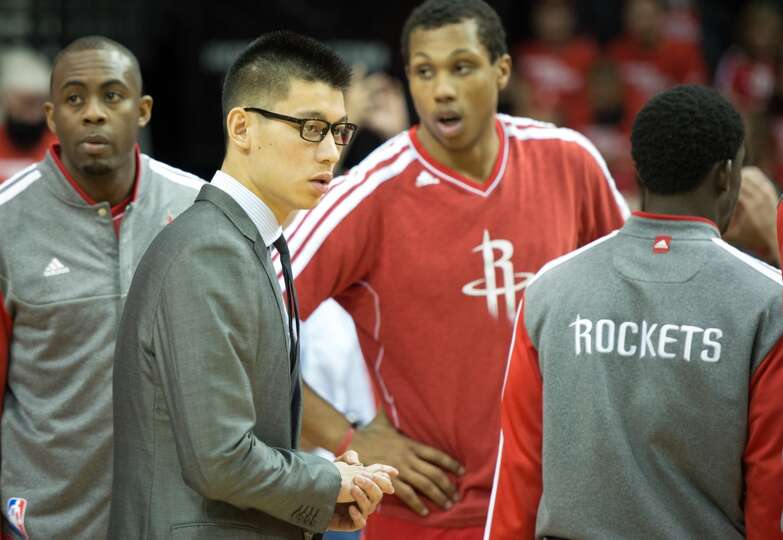 Rockets guard Jeremy Lin suited up Monda night, but not with his usual threads for game day. Lin had