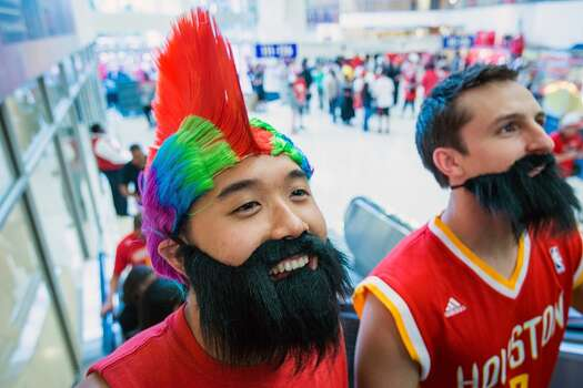 James HardenWhat you need: These awesome beards and a Rockets jerseyOptional: Male capri pants  Photo: Smiley N. Pool, Houston Chronicle