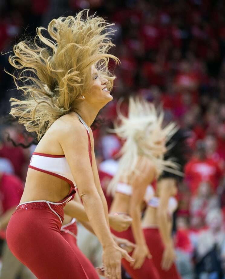 Houston Rockets Power Dancers perform during Game 4 of a Western Conference first-round playoff series against the Oklahoma City Thunder at Toyota Center on Monday, April 29, 2013, in Houston. Photo: Smiley N. Pool, Houston Chronicle