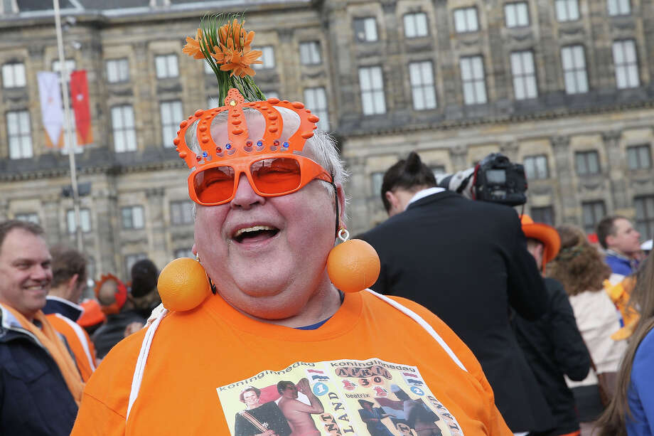 A general view of celebrations for the inauguration of King Willem Alexander of the Netherlands as Queen Beatrix of the Netherlands abdicates on April 30, 2013 in Amsterdam, Netherlands. Photo: Chris Jackson, Getty Images / 2013 Getty Images