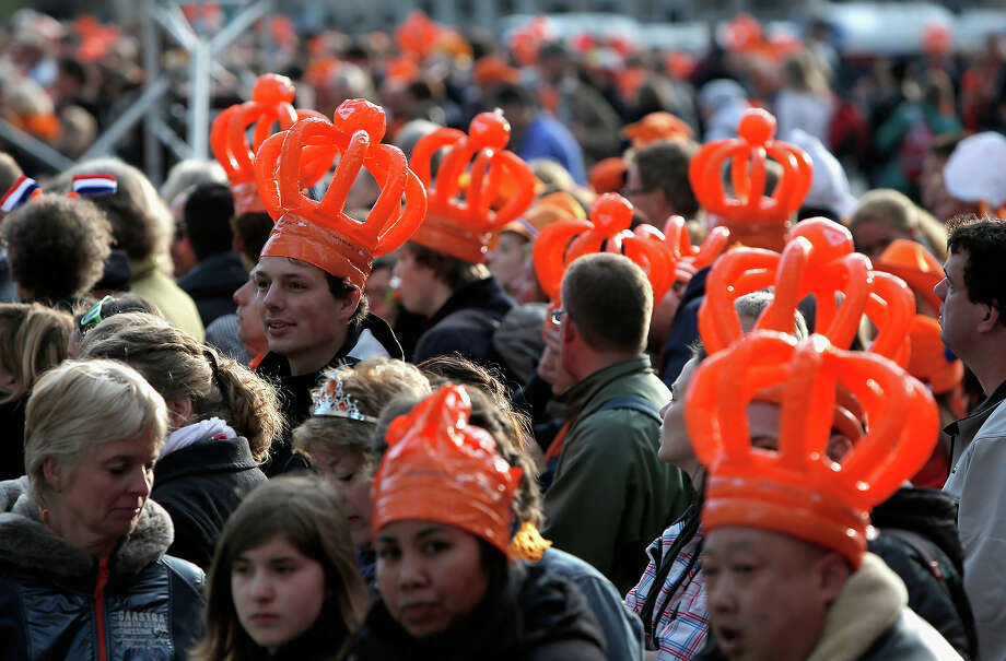 A general view of celebrations for the inauguration of King Willem Alexander of the Netherlands as Queen Beatrix of the Netherlands abdicates on April 30, 2013 in Amsterdam, Netherlands. Photo: Dean Mouhtaropoulos, Getty Images / 2013 Getty Images