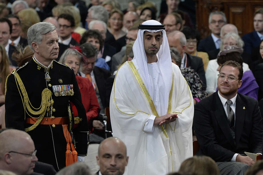 Sheikh Hamed bin Zayed al Nahyan of the United Arab Emirates arrives to attend the inauguration ceremony for King Willem-Alexander of the Netherlands at Nieuwe Kerk (New Church) in Amsterdam on April 30, 2013. Photo: ROBIN UTRECHT, AFP/Getty Images / 2013 AFP