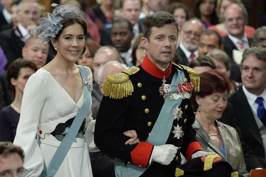 Denmark's Crown Prince Frederik and Crown Princess Mary arrive to attend the inauguration ceremony for King Willem-Alexander of the Netherlands at Nieuwe Kerk (New Church) in Amsterdam on April 30, 2013. Photo: ROBIN UTRECHT, AFP/Getty Images / 2013 AFP