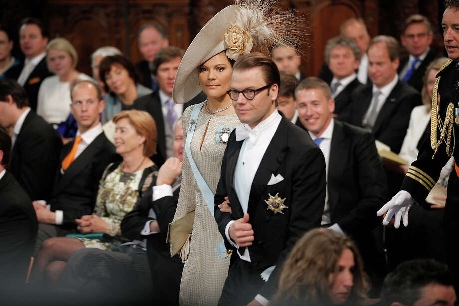 Prince Daniel of Sweden and Princess Victoria of Sweden attend the inauguration of HM King Willem Alexander of the Netherlands and HRH Princess Beatrix of the Netherlands at New Church on April 30, 2013 in Amsterdam, Netherlands. Photo: Pool, Getty Images / 2013 Getty Images