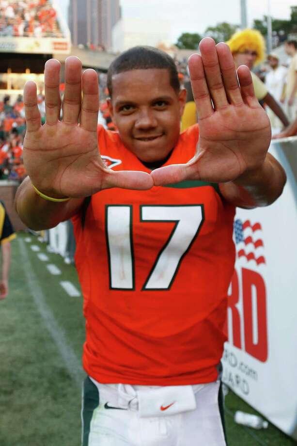 Stephen Morris Miami quarterback 25/1 odds Photo: Joe Robbins, Getty Images / 2012 Getty Images