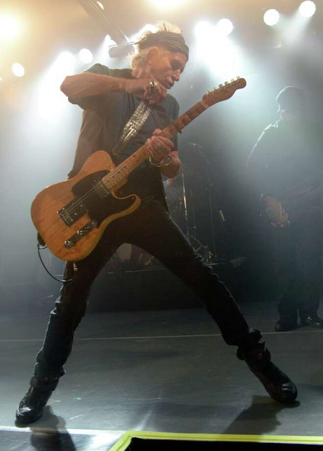 Keith Richards of the Rolling Stones performs at Echoplex on April 27, 2013 in Los Angeles, California.