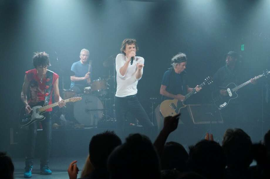 The Rolling Stones perform at Echoplex on April 27, 2013 in Los Angeles, California.
