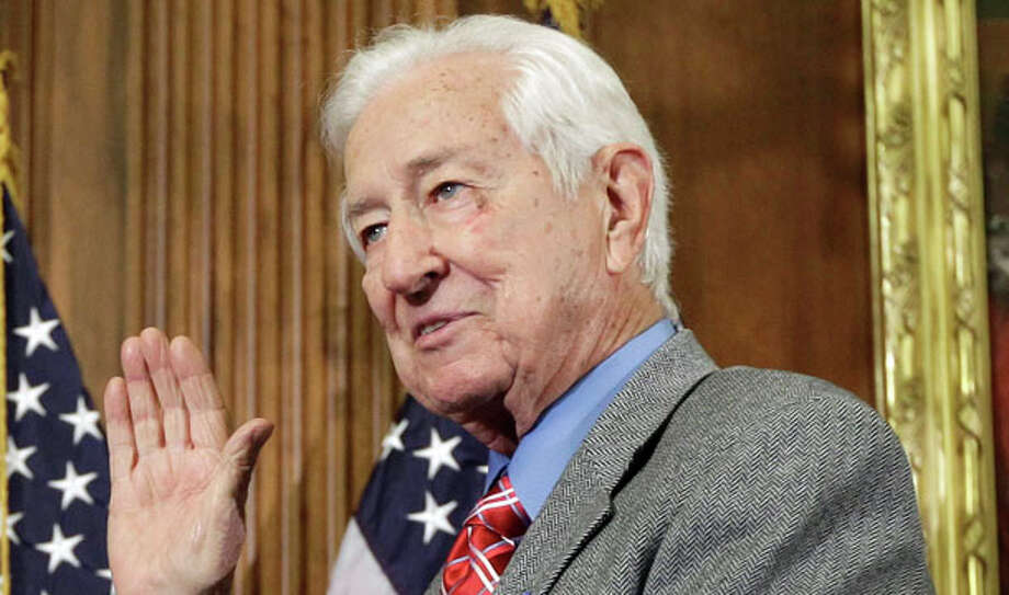 Ralph Hall – R-Rockwall  Top Contributor: two at $500 Barrett Management and ASC Properties  Top Sector: Healthcare/Insurance $3,500  Hall also contributed $20,000 of his own money to his campaign. Photo: Charles Dharapak, AP / AP