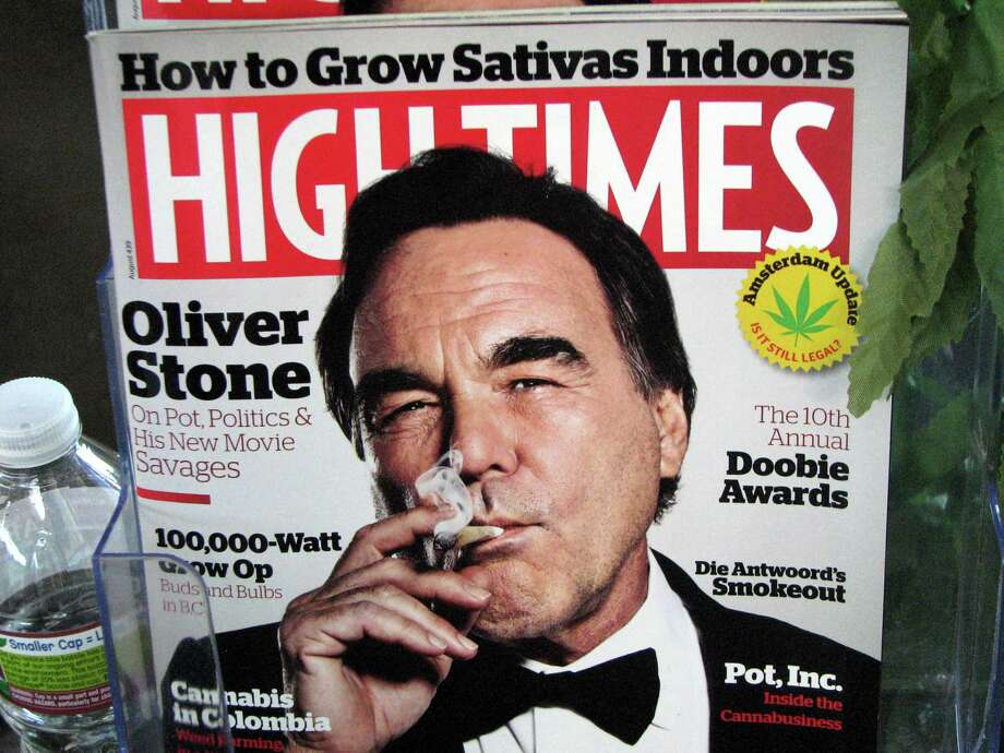 'Savages' director Oliver Stone on the latest 'High Times' cover. Photo: David Downs