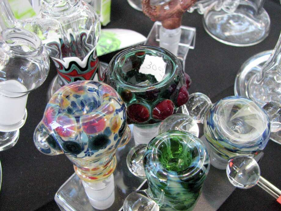 Glass bowls for sale in the Expo. Photo: David Downs