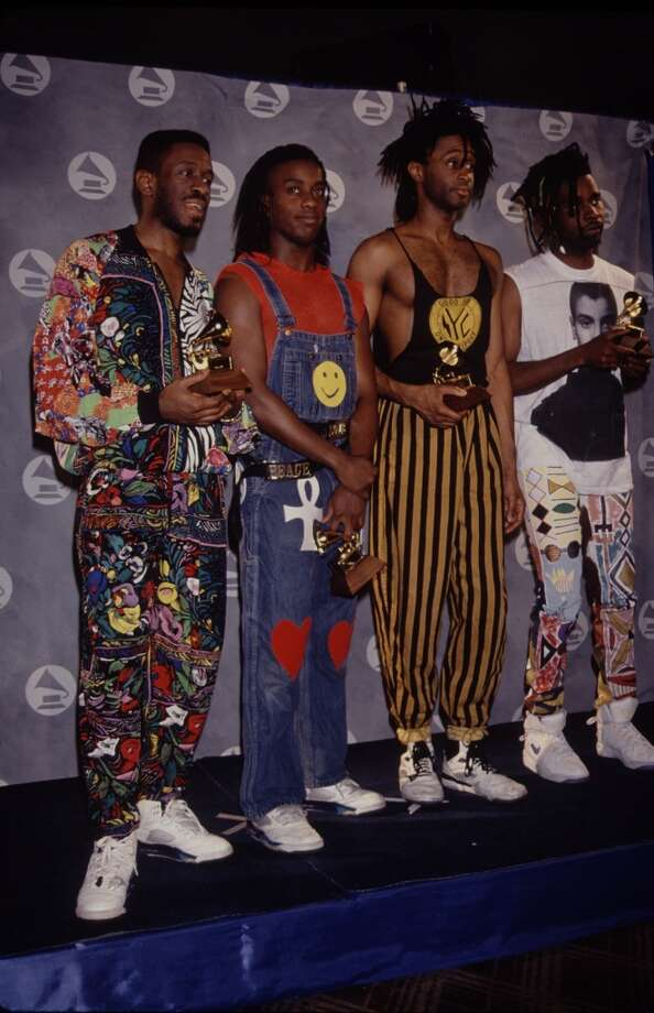 Wore any kind of circus pants.   (Living Colour, late '80s).