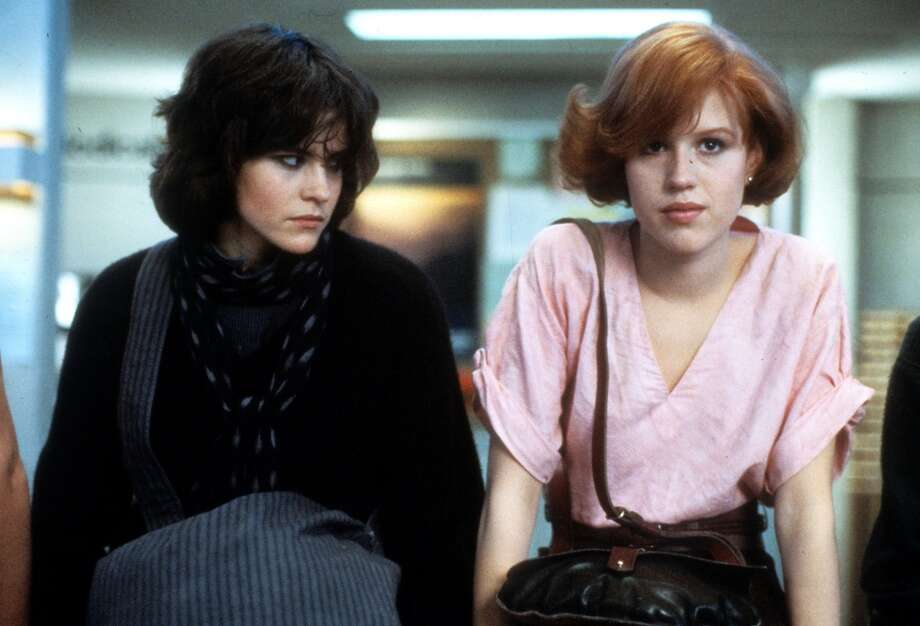 Tried and failed to look like Molly Ringwald (R) in ''Sixteen Candles,'' ''Pretty Pink'' or  ''The Breakfast Club'' (pictured, with Ally Sheedy).