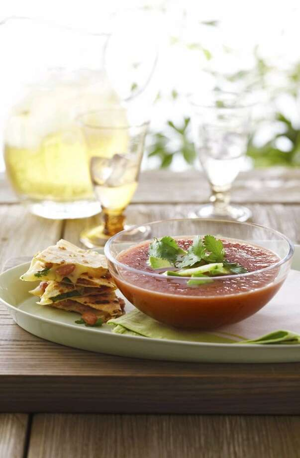If your fiesta includes little fingers, this tomato soup with quesadilla dippers is sure to be a hit. Get the recipe here.  Photo: Anna Williams