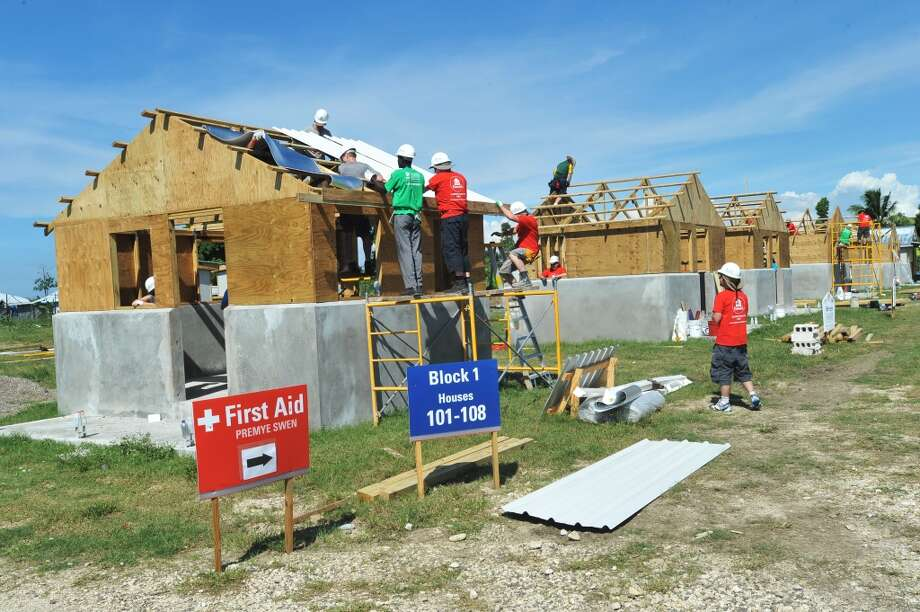 2. Build a house. Habitat For Humanity has build several houses within four hours to set records.