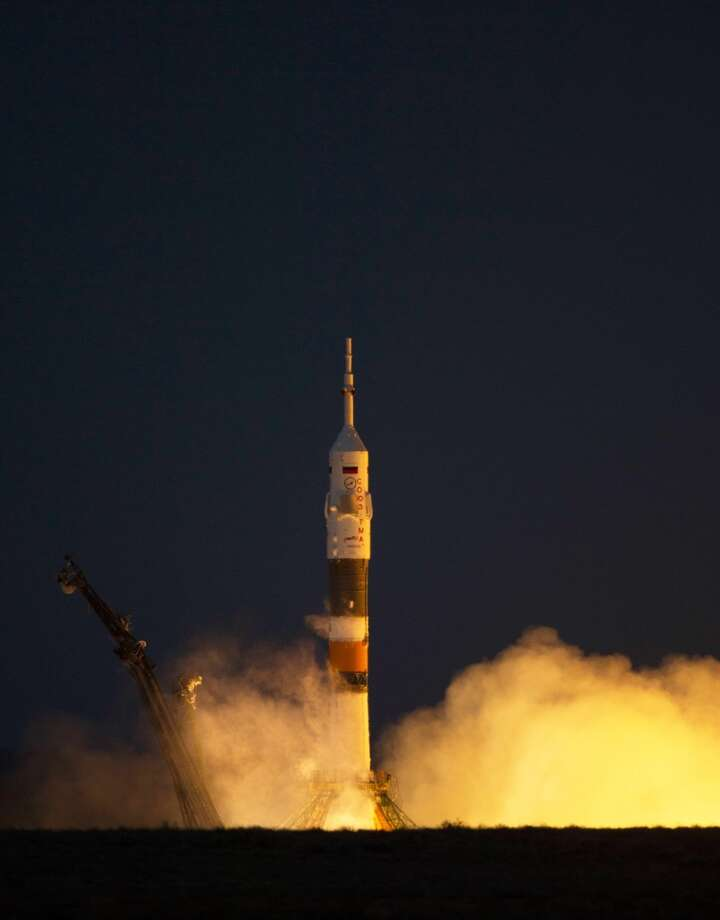 1. Fly from Earth to the Space Station. The Russian Soyuz TMA-08M spacecraft took three crew members from Kazakhstan to the Space Station in six hours last month.