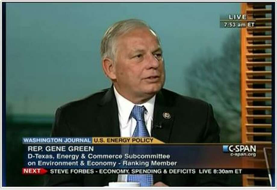 Gene Green – D-Houston  Top Contributor: Union Pacific $1,000 (railroad)  Top Sector: Unions $16,000  (CSPAN screenshot)