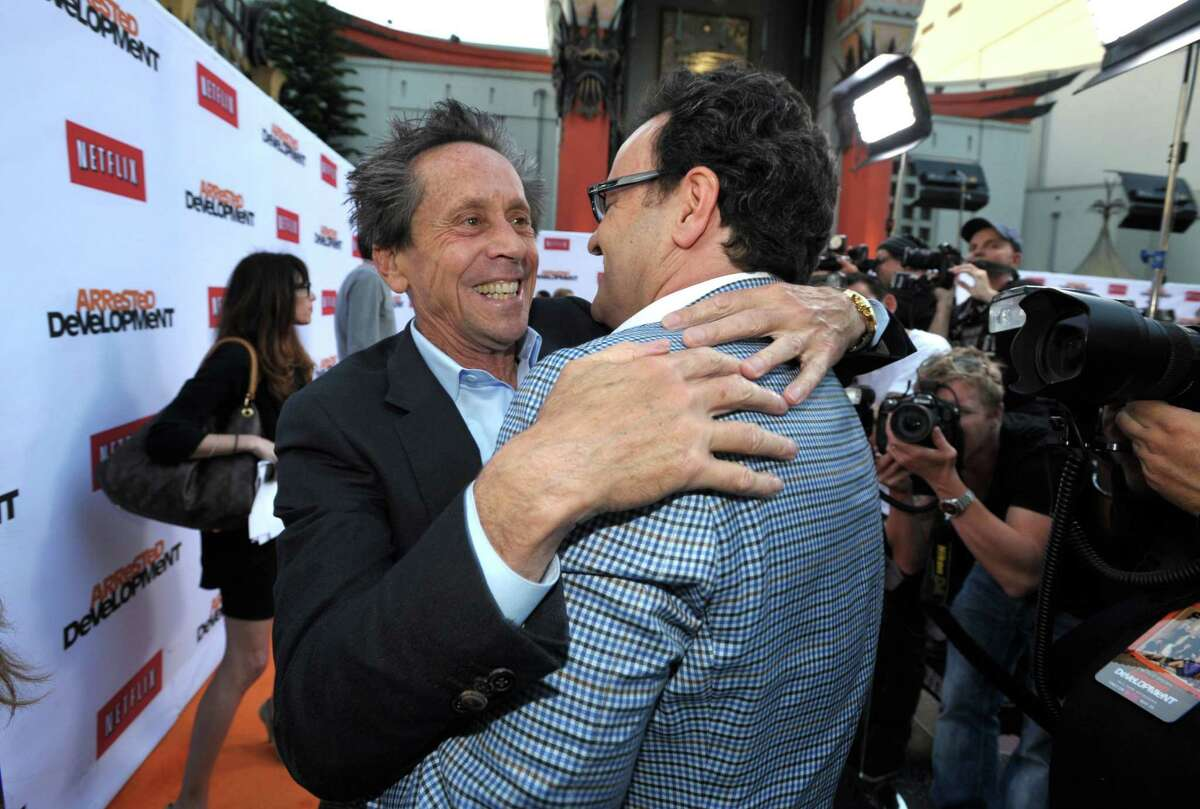 Brian Grazer, left, and Mitchell Hurwitz attend the season four premiere of