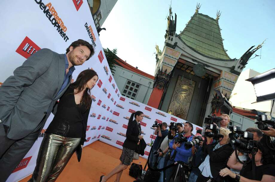 "Jason Bateman, left, and Amanda Anka pose for photographers at the season four premiere of ""Arrested Development"" at the TCL Chinese Theatre on Monday, April 29, 2013 in Los Angeles. Photo: John Shearer, John Shearer/Invision/AP / Invision"