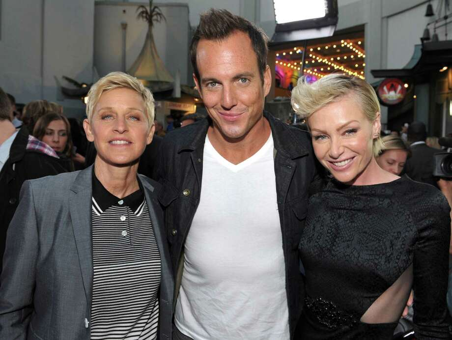 "From left, Ellen DeGeneres , Will Arnett, and Portia de Rossi attend the season four premiere of ""Arrested Development"" at the TCL Chinese Theatre on Monday, April 29, 2013 in Los Angeles. Photo: John Shearer, John Shearer/Invision/AP / Invision"