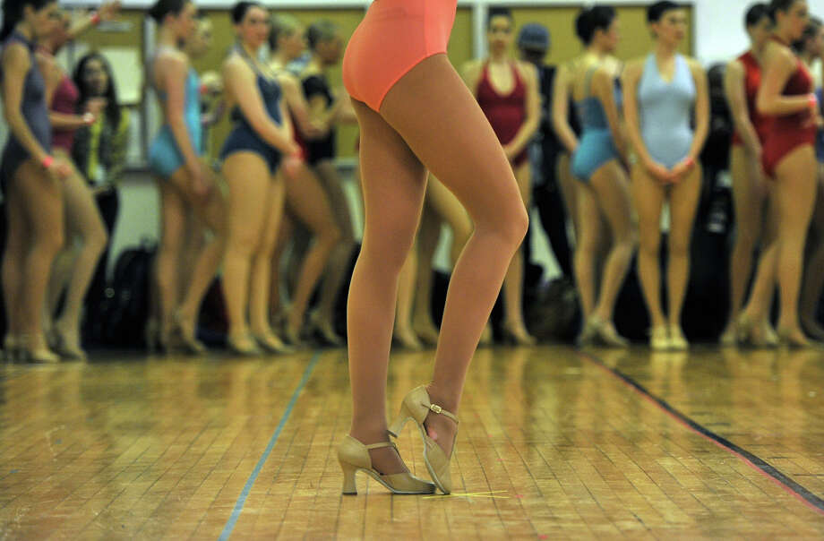 Dancers go through auditions ON April 30, 2013 at Radio City Music Hall  to become a Rockette for the upcoming 2013 production of the  Radio City Christmas Spectacular at Radio City Music Hall in New York. The show runs November 8-December 30. Photo: TIMOTHY A. CLARY, AFP/Getty Images / 2013 AFP