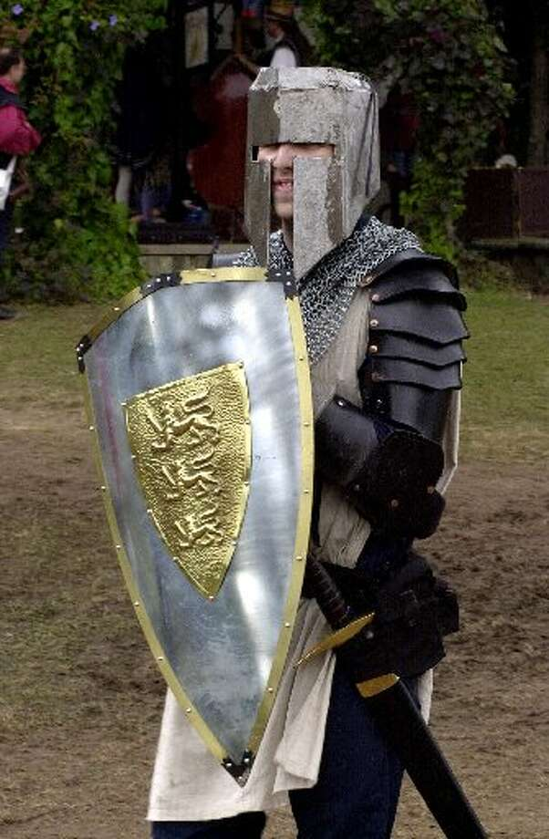 Knights and kings are a popular costume choice for men.