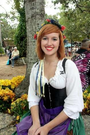 When the weather is perfect, ren fest can be a perfect day.
