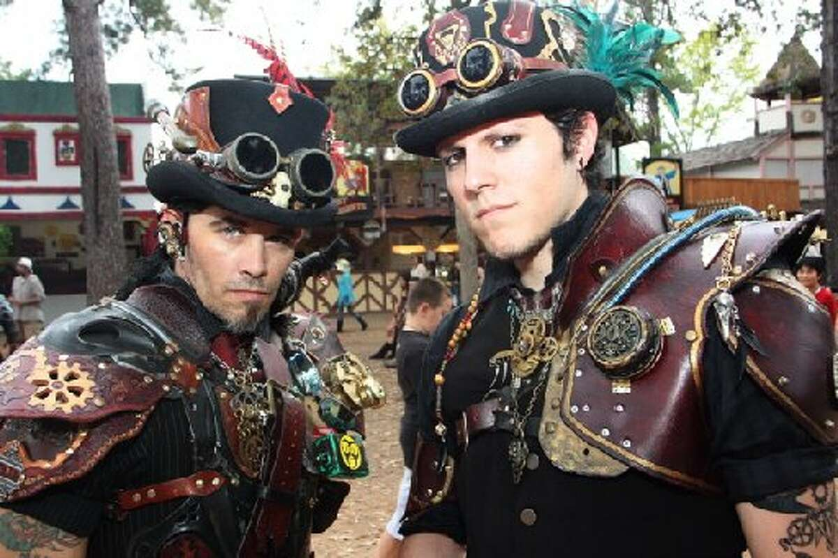 Ren Fest is a time to test out different fashion looks like steam punk.