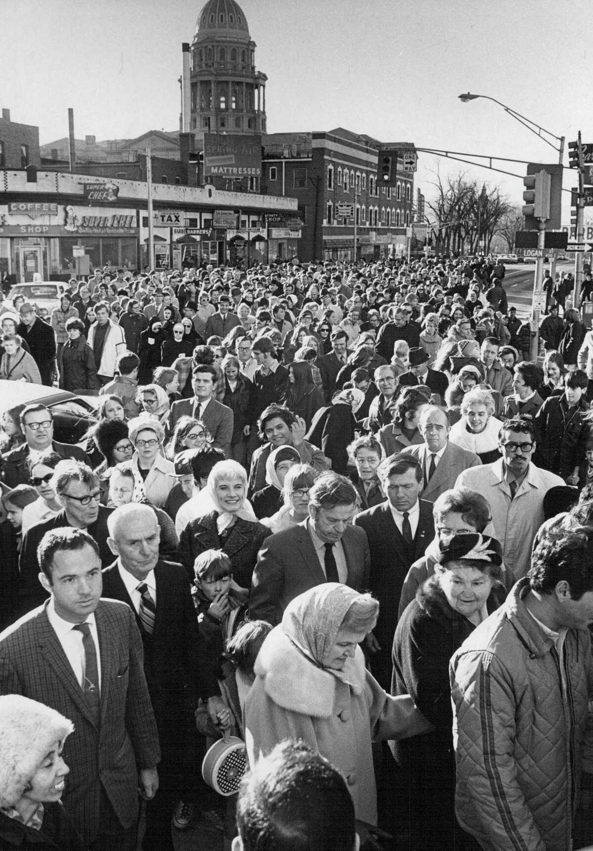 1970: A rally opposing state abortion laws was attended by more than 1,000 persons.;