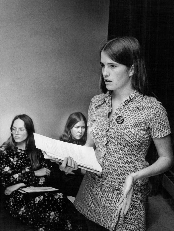 1971: Seated are Nora Danielson, left, and Elizabeth Whelam, other members of group seeking to abolish abortion laws. Photo: John Beard , Getty Images / (C) 2010 The Denver Post, MediaNews Group