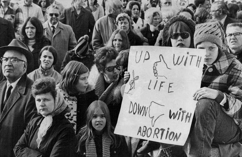 1973: About 300 persons attended the third annual Human Life Sunday observance on the west steps of the Colorado Capitol Building. Photo: John Prieto, Getty Images / (C) 2010 The Denver Post, Media News Group