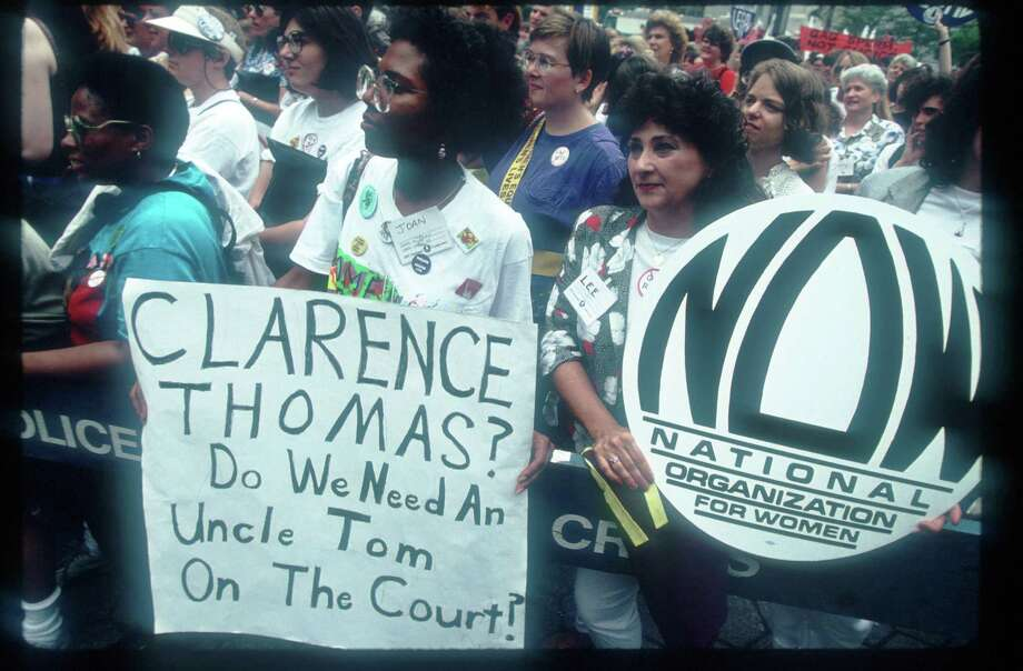 1991: Women protest at the National Organization for Women Pro-Choice rally June 15, 1991 in New York City. (Photo by Porter Gifford/Liaison) Photo: Porter Gifford, Getty Images / Getty Images North America