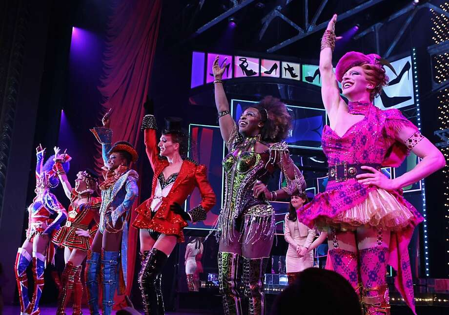 "Cyndi Lauper scored the musical ""Kinky Boots,"" which is based on the struggle of a shoe factory. Photo: Bennett Raglin, Getty Images For Kinky Liqueur"