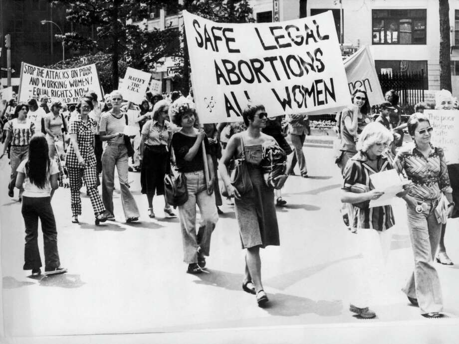 "1977: Women Demonstrating For The Right To ""Legal And Safe Abortion For All Women"" In New York On September 9, 1977. Photo: Getty Images"