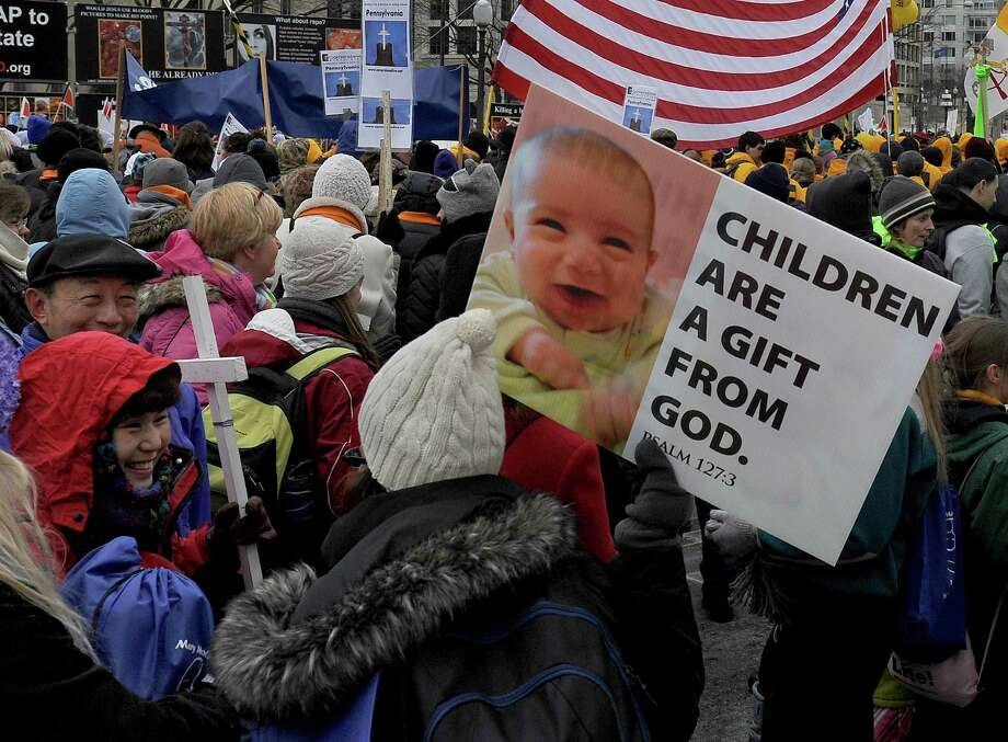 2013: Thousands marched from the Mall to the Supreme Court as part of the 40th annual March For Life anti-abortion protest. Photo: Michael S. Williamson, Getty Images / The Washington Post