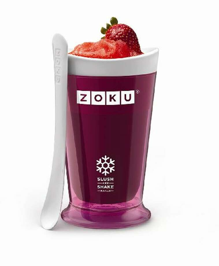 Zoku's line of frozen pops accessories has expanded this year to include Slush and Shake Maker, a cup with an inner core that you pop in the freezer. Now you can make slushies and shakes in seven minutes using your own ingredients.