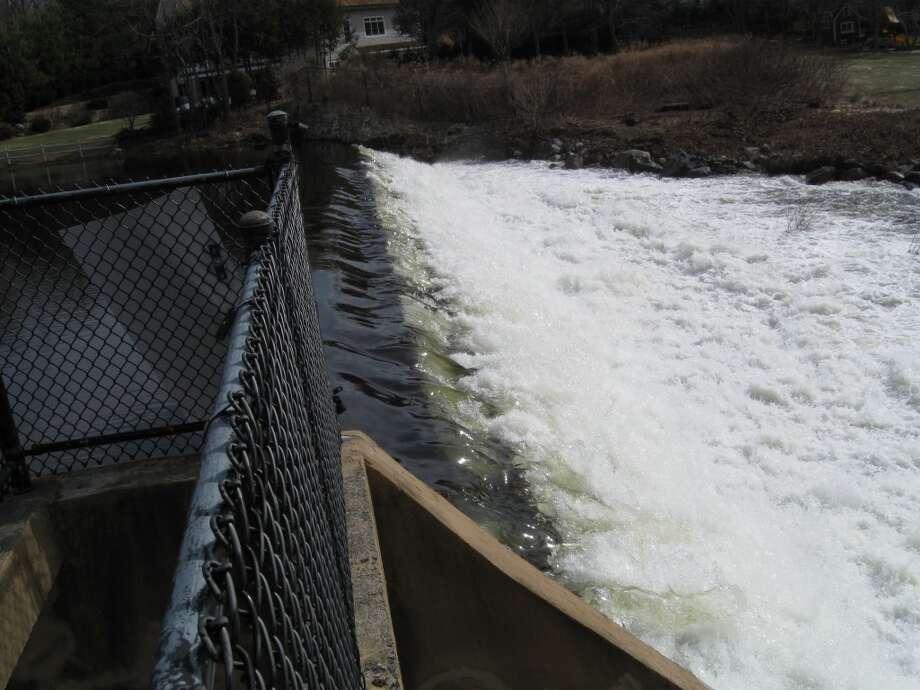 Spring runoff at Lees Dam.