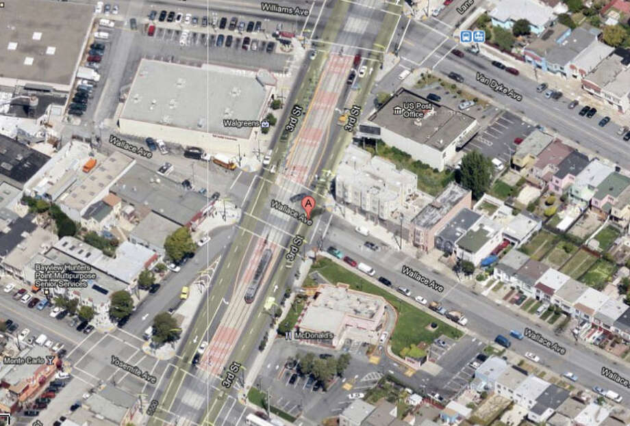Third Street and Wallace Avenue, San Francisco, CA Photo: Google Maps