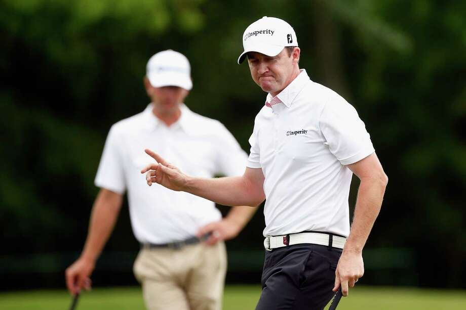 AVONDALE, LA - APRIL 28:  Jimmy Walker reacts after making a putt on the 8th hole during the final round of the Zurich Classic of New Orleans at TPC Louisiana on April 28, 2013 in Avondale, Louisiana. Photo: Chris Graythen, Getty Images / 2013 Getty Images