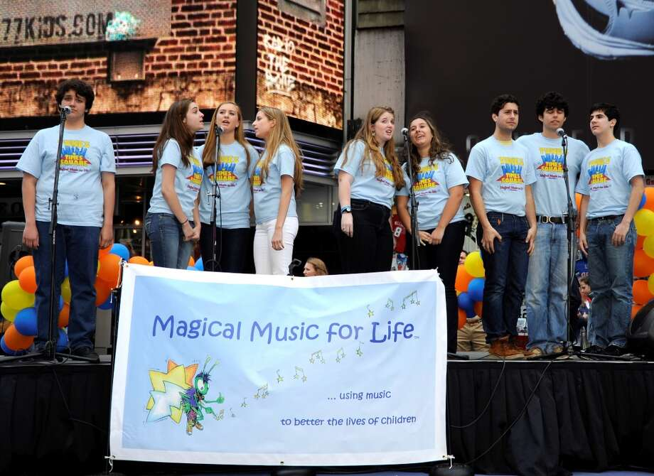 Magical Music For Life performs a sing-along concert, Tunes in Times Square, in Times Square, New York City on Sunday, May 5.
