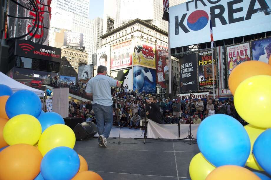 Magical Music For Life performs Tunes in Times Square, in Times Square, New York City on Sunday, May 5.