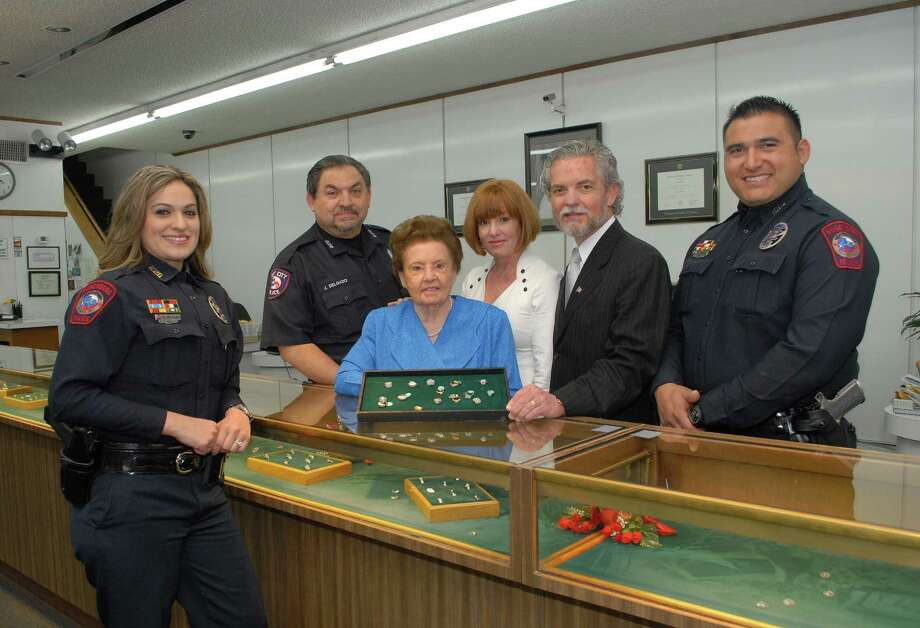 Herfort Diamond Ring Factory is a family-run business that employs a security force that is made up of members of the Delgado family. From left are: Danielle Delgado, Juan Delgado, Brigitta Herfort, Ann Herfort Lane, Mark Herfort and J.D. Delgado.Herfort Diamond Ring Factory is a family-run business that employs a security force that is made up of members of the Delgado family. From left are: Danielle Delgado, Juan Delgado, Brigitta Herfort, Ann Herfort Lane, Mark Herfort and J.D. Delgado. Photo: George Wong / Freelance