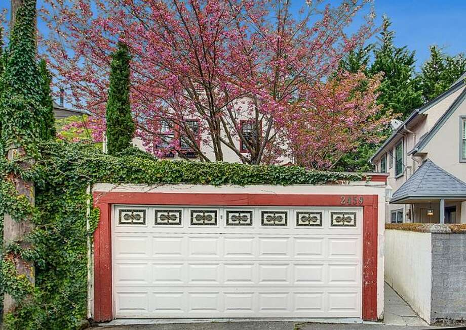 Garage of 2459 E. Lake Washington Boulevard. The 3,150-square-foot Mediterranean-style house, built in 1927, has four bedrooms, 2.25 bathrooms, leaded glass, arched doorways and windows, coved ceilings, built-ins, a rec room and a brick patio on a 4,944-square-foot lot. It's listed for $959,000. Photo: HD Estates,  Courtesy Mark Rockwell,  Windermere Real Estate